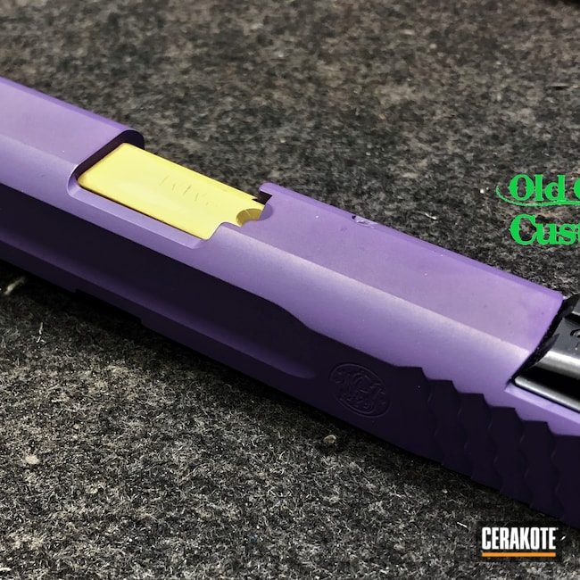 Cerakoted: S.H.O.T,9mm,Smith & Wesson,Wild Purple H-197,Ral 8000 H-8000,Smith & Weason M&P Compact
