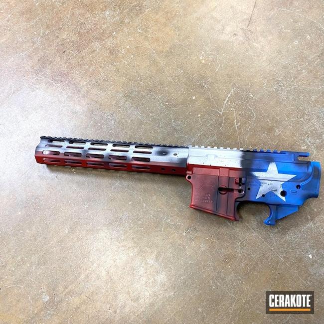 Cerakoted: Bright White H-140,S.H.O.T,NRA Blue H-171,FIREHOUSE RED H-216,Graphite Black H-146,Texas Flag,AR-15