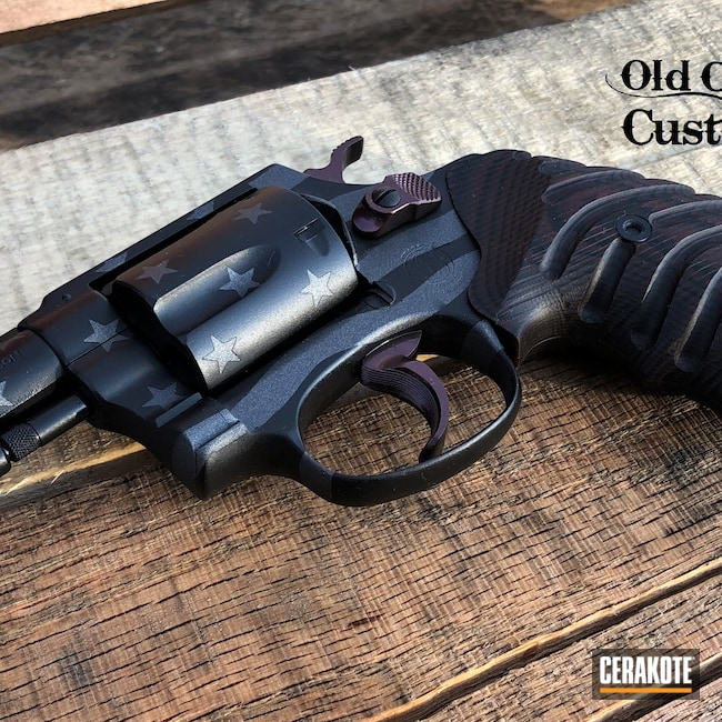 Cerakoted: S.H.O.T,38 Special,Graphite Black H-146,HIGH GLOSS CERAMIC CLEAR MC-160,Smith & Wesson,Tungsten H-237,American Flag,Ghost Flag,Model 37