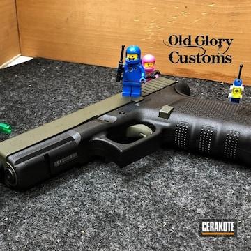 Glock 21 Pistol Cerakoted Using O.d. Green