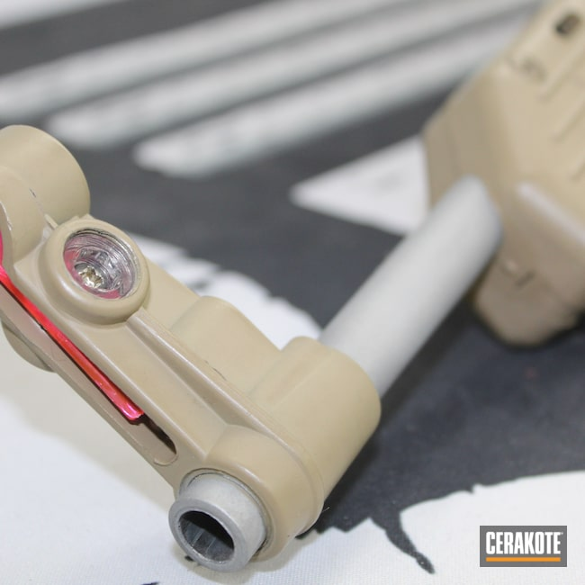 Cerakoted: S.H.O.T,Satin Mag H-147,9mm,Kel-Tec SUB-2000,Coyote Tan H-235,KelTec,Sub2k,PCC
