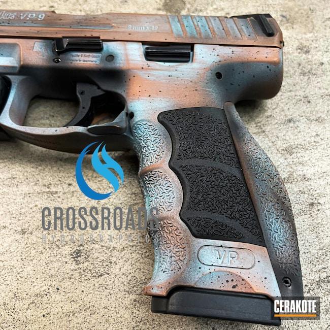 Cerakoted: 9mm,VP9,COPPER H-347,Robin's Egg Blue H-175,Graphite Black H-146