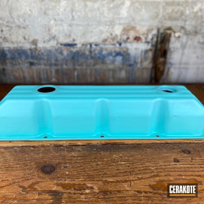 Cerakoted: Robin's Egg Blue H-175,Valve Covers,Automotive