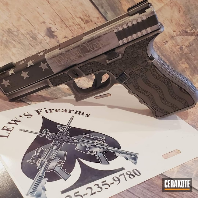 Cerakoted: S.H.O.T,Graphite Black H-146,Distressed Glock,Satin Aluminum H-151