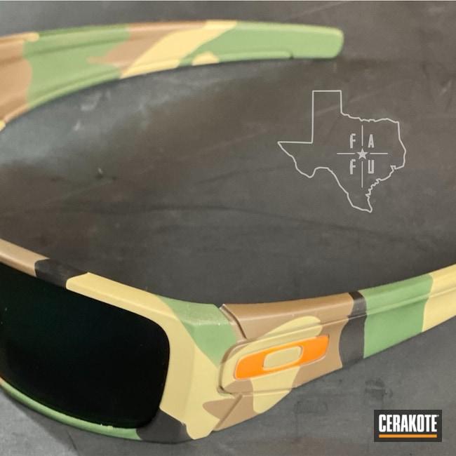 Cerakoted: S.H.O.T,Gods Plaid,Sunglasses,Highland Green H-200,Coyote Tan H-235,Oakley,Woodland Camo,Graphite Black H-146,Oakley Gascan,Custom Camo,Chocolate Brown H-258