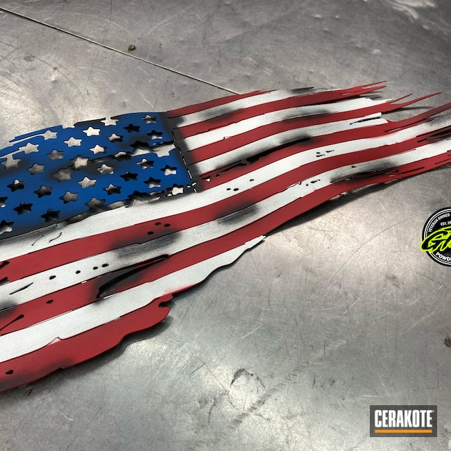 Cerakoted: Metal Art,NRA Blue H-171,FIREHOUSE RED H-216,Graphite Black H-146,Stormtrooper White H-297
