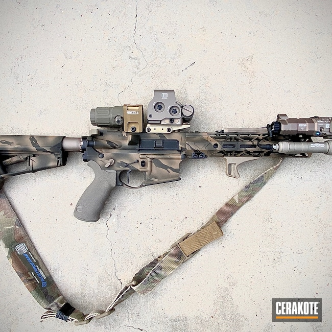 Cerakoted: S.H.O.T,BARRETT® BROWN H-269,Tactical Rifle,MAGPUL® O.D. GREEN H-232,AR-15