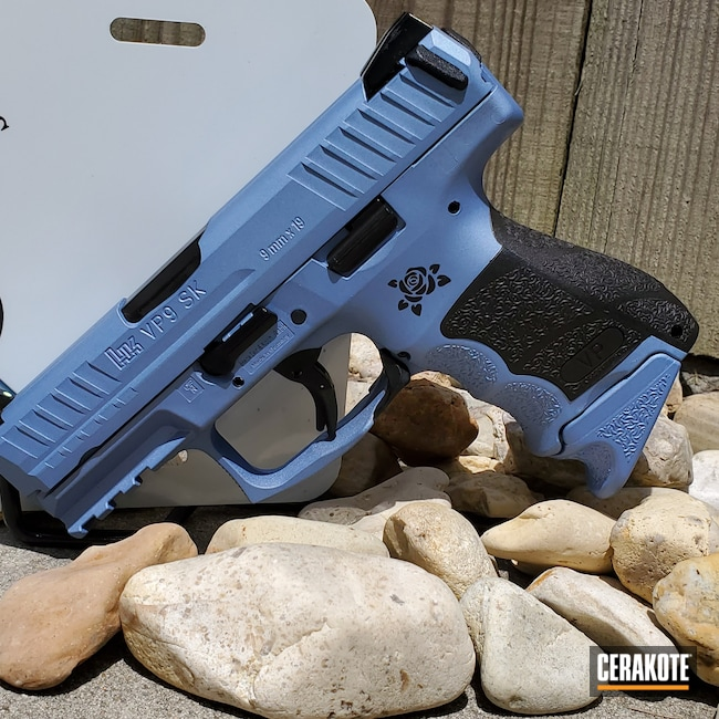 Cerakoted: S.H.O.T,9mm,Graphite Black H-146,Heckler & Koch,POLAR BLUE H-326