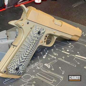 Rock Island Armory 1911 Pistol Cerakoted Using Barrett® Brown And Magpul® Flat Dark Earth