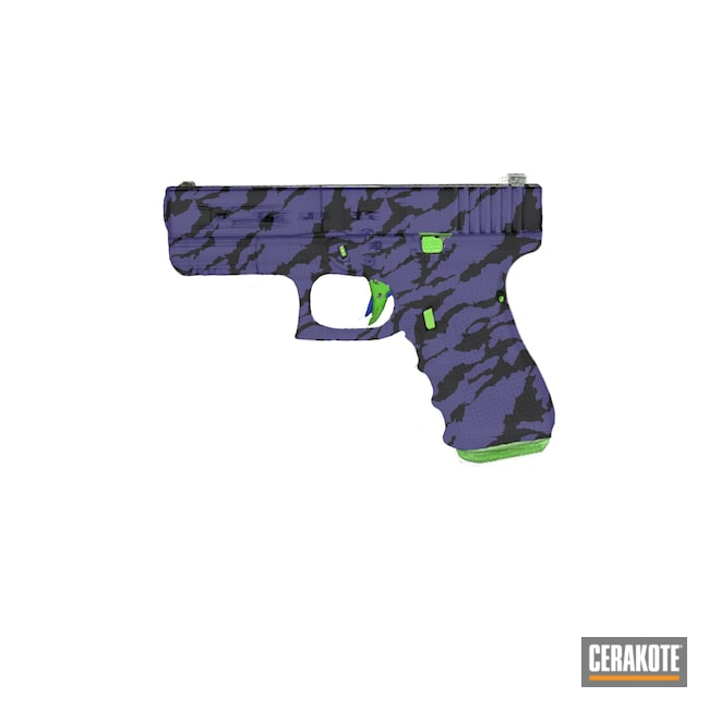Cerakoted: S.H.O.T,Glock 19,NRA Blue H-171,Zombie Green H-168,Gen 4