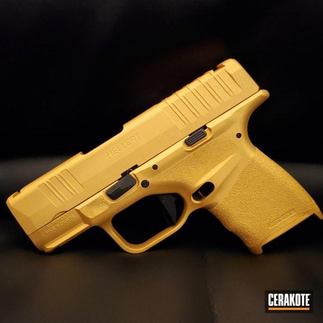 Cerakoted: S.H.O.T,Springfield Armory Hellcat,.9,Gold H-122