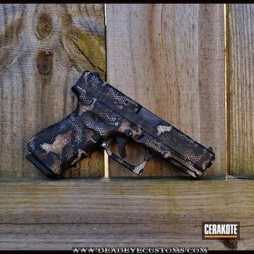 Hex Camo Glock Cerakoted Using Desert Verde, Glock® Fde And Graphite Black