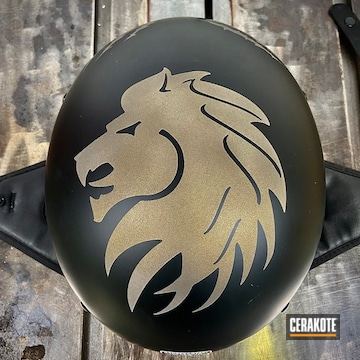 Custom Helmet Cerakoted Using Midnight Bronze