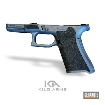 Glock 45 Pistol Frame Cerakoted Using Blue Titanium