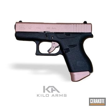 Glock 42 Pistol Cerakoted Using Rose Gold