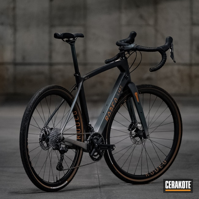 Cerakoted: TEQUILA SUNRISE H-309,Bike Frame,Trail Donkey,Bike Components,Carbon Fiber,Rodeo Labs,Bike Fork,Adventure Bike,Custom,Graphite Black H-146,Bicycle,Titanium H-170,CHARCOAL GREEN H-338,Gravel Bike