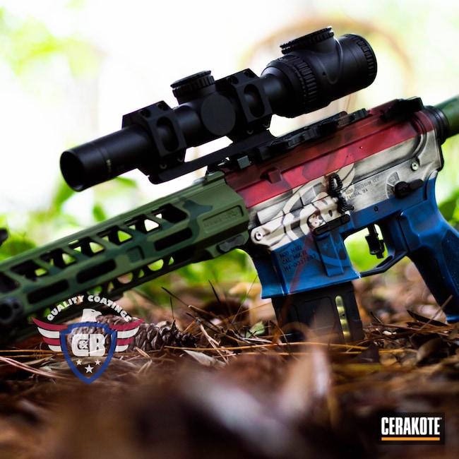 Cerakoted: S.H.O.T,.223,Aero Precision,Lead Star Arms,FIREHOUSE RED H-216,Custom,SBA3,Snow White H-136,Toy,12.5,Camo,Trijicon,Leadstar Arms
