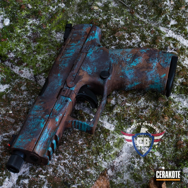 Cerakoted: S.H.O.T,COPPER H-347,Walther,Robin's Egg Blue H-175,Rusty Look,ppq,Spartan Worn,Rust