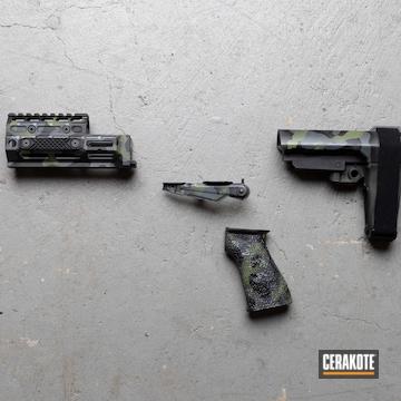 Multicam Ak Parts Cerakoted Using Sig™ Dark Grey, Graphite Black And Multicam® Dark Green
