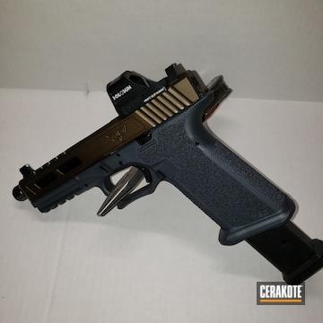 Glock Cerakoted Using Midnight Bronze And Stone Grey