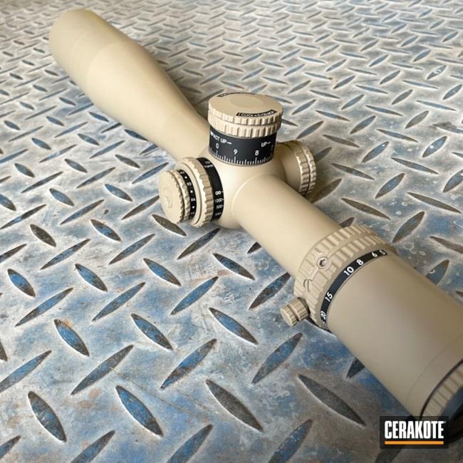 Trijicon Scope Cerakoted Using Coyote Tan And M17 Coyote Tan
