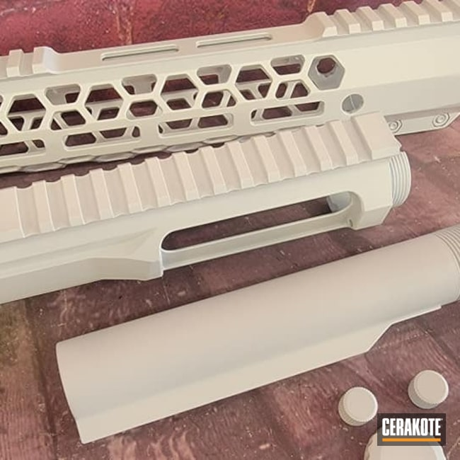 Cerakoted: Bright White H-140,S.H.O.T,AR,AR Project,Tactical Rifle,Ar Rail,AR Rifle,AR Build,AR-15