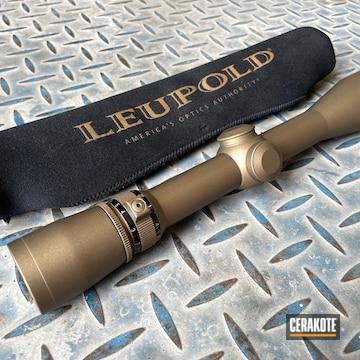 Leupold Scope Cerakoted Using Burnt Bronze