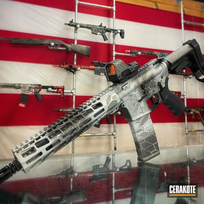 Cerakoted: S.H.O.T,Kryptek,Precision Tactical,Tungsten H-237,Complete Build,Satin Aluminum H-151,Titanium H-170,.223