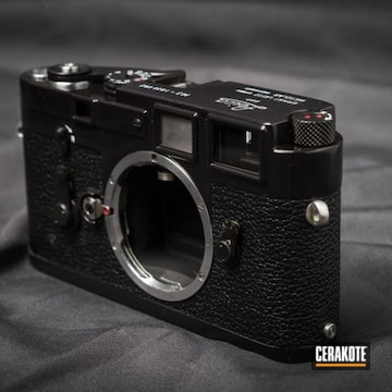 Vintage Leica M3 Camera Cerakoted Using Stormtrooper White And Gloss Black