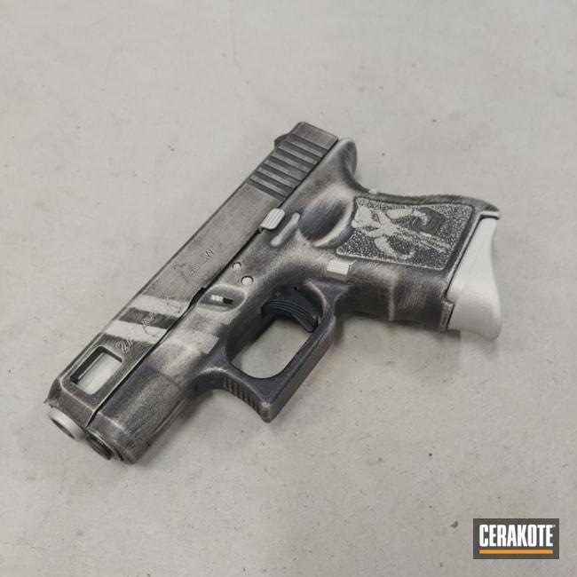 Battleworn Mandalorian Themed Glock Cerakoted Using Bright Nickel And Graphite Black