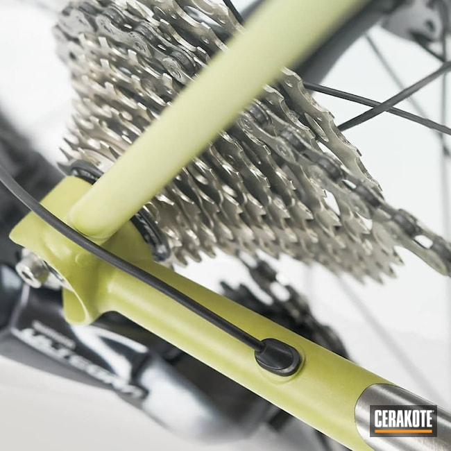 Cerakoted: Bicycle Frame,Graphite Black H-146,Bicycle,MOJITO H-313,Bicycle Parts