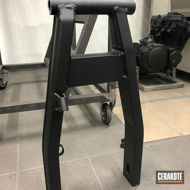 Cerakoted: Graphite Black H-146,Motorcycle Parts,Swingarm,Automotive,Motorcycle Frame,Motorcycle