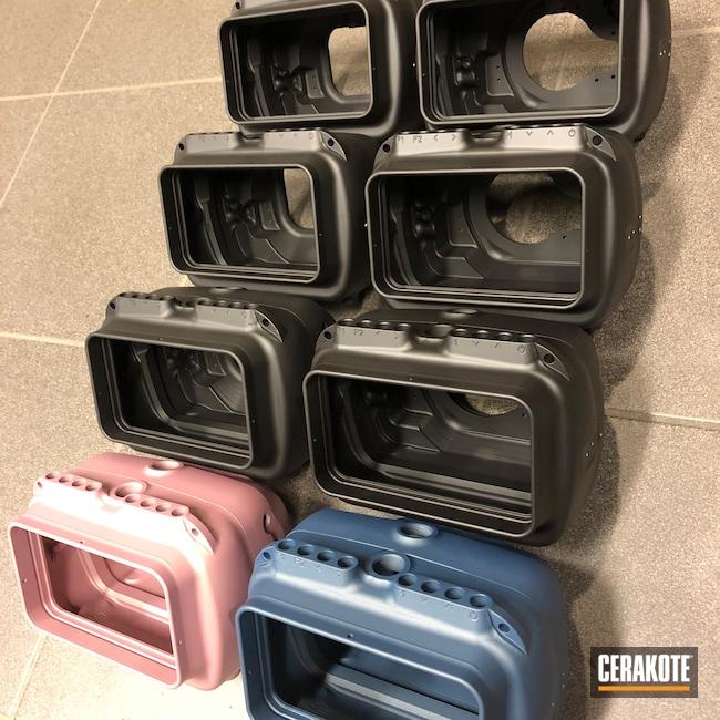 Cerakoted: PINK CHAMPAGNE H-311,Graphite Black H-146,Photography,Diving Camera,Deep Sea,Blue Titanium H-185