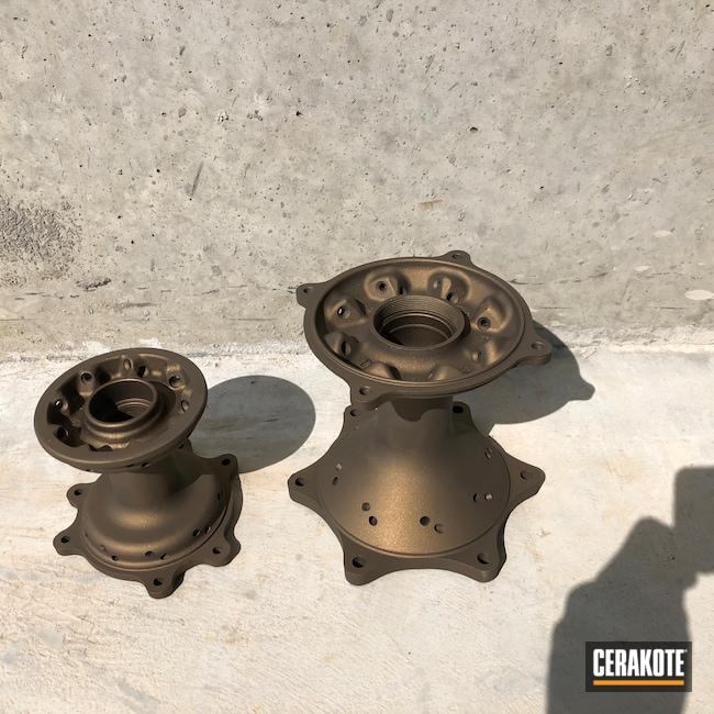 Cerakoted: Motocross,Motorcycle Parts,Burnt Bronze H-148,Automotive,Wheel Hubs,Motorcycle