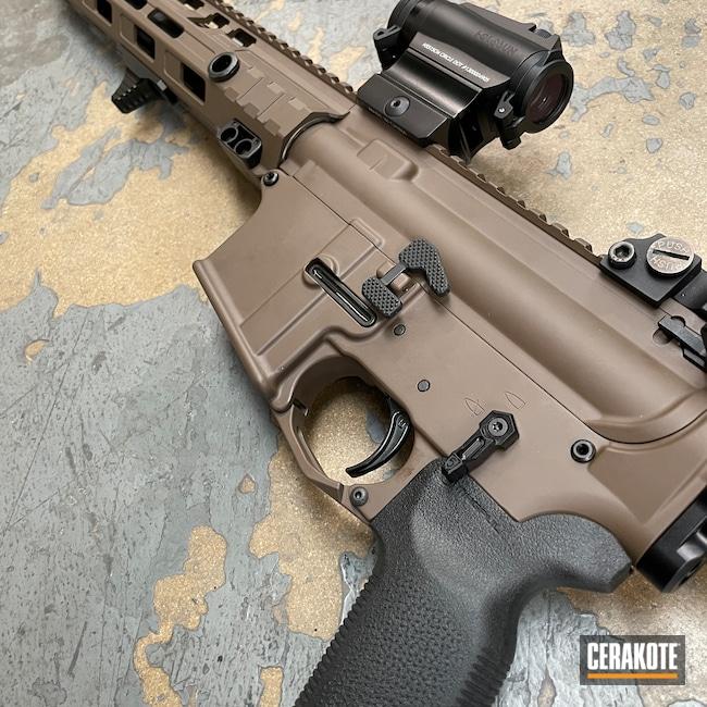 Cerakoted: S.H.O.T,AR Pistol,Upper / Lower / Handguard,Patriot Brown H-226,Pistol,Rainier Arms