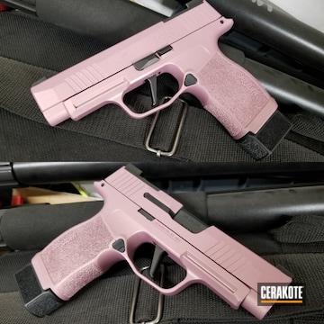 Sig Sauer P365 Pistol Cerakoted Using Pink Champagne
