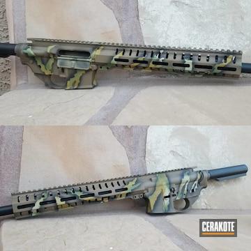 Custom Camo Ar Cerakoted Using Patriot Brown, Multicam® Bright Green And Multicam® Light Green
