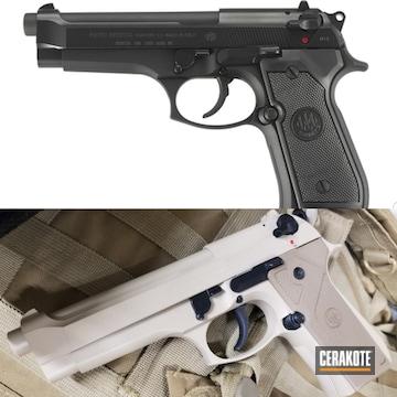 Beretta Pistol Cerakoted Using Desert Sage