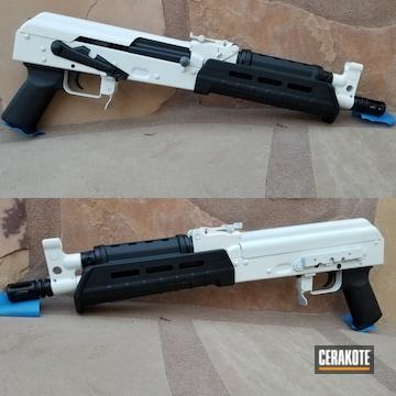 Ak Pistol Cerakoted Using Stormtrooper White