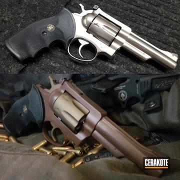 Revolver Cerakoted Using Barrett® Bronze