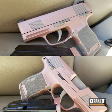 Sig Sauer P365 Pistol Cerakoted Using Rose Gold