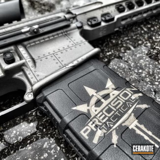 Cerakoted: S.H.O.T,Custom Rifle,H-Series,Tungsten H-237,Titanium H-170,.223,Metal