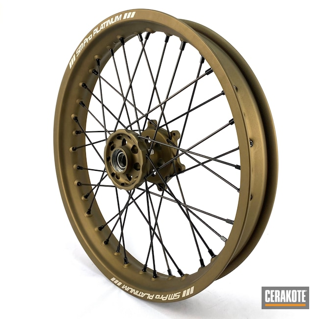 Cerakoted: Motocross,Motorcycle Parts,Burnt Bronze H-148,Automotive,Wheels,Motorcycle