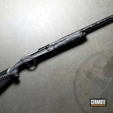 Battleworn American Flag Themed Benelli Shotgun Cerakoted Using Titanium And Graphite Black