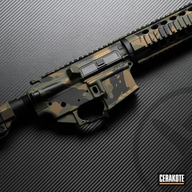 Cerakoted: S.H.O.T,Rhodesian Brushstroke,Graphite Black H-146,Mil Spec O.D. Green H-240,Burnt Bronze H-148,Brush Camo,AR-15