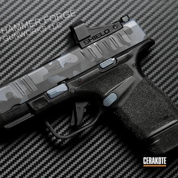 Urban Multicam Springfield Armory Hellcat Cerakoted Using Multicam® Dark Grey And Graphite Black