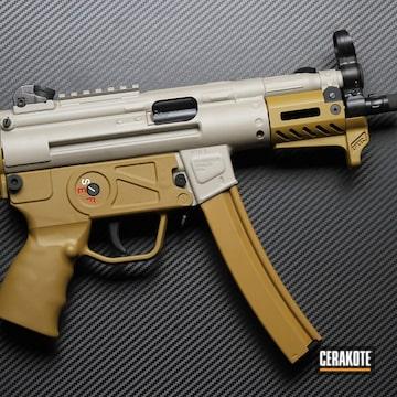 Mp5 Cerakoted Using Satin Aluminum, Benelli® Sand And Graphite Black