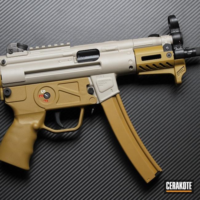 Cerakoted: S.H.O.T,Graphite Black H-146,Ral 8000 H-8000,BENELLI® SAND H-143,Satin Aluminum H-151,MP5K,PTR,MP5