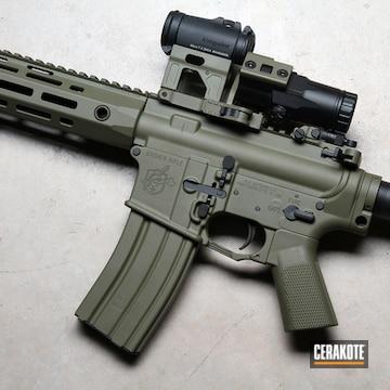 Knight's Armament Ar Cerakoted Using Multicam® Light Green