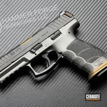 Heckler & Koch Vp9 Cerakoted Using Titanium, Tungsten And Gold